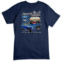 American Muscle Mustang T-Shirt Ford 1967 Navy Tee Shirt