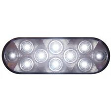 10 LED Oval Auxiliary/Utility Light White LEDs/Clear Lens