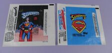 Superman & Superman II Movies Original Topps Bubblegum Wrappers 1978 & 1981