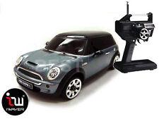 NEW IWAVER 02M MINI COOPER S METALLIC GREY RC CAR 1:28 FM RTR MINI-Z