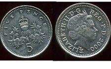 ROYAUME UNI   five   5  pence 2000