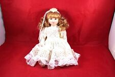 "Vintage 8.5"" Jm 06 Bisque Lace Dress Articulating Doll Collectible"