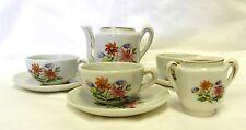 Grantcrest Japan Children's Tea Set Sugar Cup Saucer Vintage Flower Floral Rare