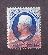US O36 2c Navy Department Used w/ Red Fancy Cancel