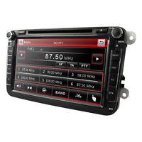 "8"" Car Stereo DVD Player Head Unit GPS Sat Nav Radio BT For VW Golf MK5 Passat"
