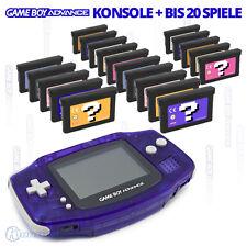 Nintendo GameBoy Advance GBA Konsole - u.a. mit Super Mario, Pokemon o. Tetris