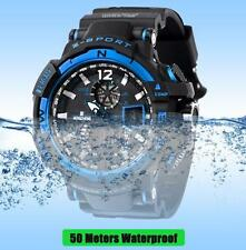Luxury Mens Watch Rubber LED Digital Sports Waterproof Diving Quartz Wrist Watch