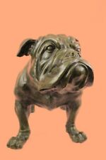 Bronze English BULL DOG Statue Bulldog Art Sculpture Yale Georgetown Mascot Sale