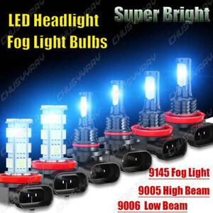 For Honda CR-V CRV 2015-2020 8000K LED Headlight Hi&Low Beam Fog Light Bulb Kits