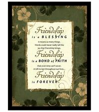 NEW Dexsa Friendship Wood Frame Plaque with Easel DX8502