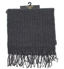 DOCKERS Scarf Acrylic Cold Weather Gray Houndstooth