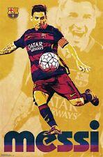 LIONEL MESSI - BARCELONA POSTER - 22x34 ART SOCCER FOOTBALL 14485