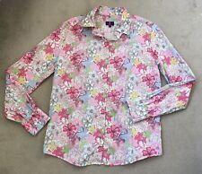 Ladies Gorgeous Retro Floral Print LIBERTY LONDON Shirt Top Blouse SZ UK10