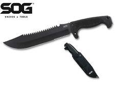 SOG - JUNGLE PRIMITIVE Fixed Blade Knife w/ nylon Sheath F03T-N New
