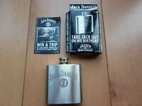 BRAND NEW JD STAINLESS STEEL HIP FLASK - JACK DANIELS , PERFECT GIFT
