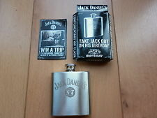 NEW RARE JACK DANIELS JD STAINLESS STEEL HIP FLASK, PERFECT GIFT