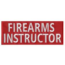 """FIREARMS INSTRUCTOR large 10""""x4"""" plate carrier body armor touch fastener patch"""