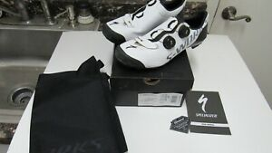 Specialized S Works Recon carbon cycling shoes sz 43 White dual BOA sz 9.6 Med