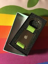 RARE OOP NEW BOXED! APPLE COMPUTER INC EMPLOYEE STORE LOGO GREEN KEY CHAIN FOB
