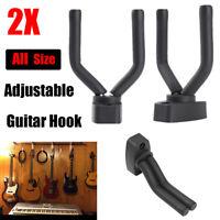 2-PACK Adjustable Guitar Hanger Hook Holder Wall Mount Display Acoustic Electric