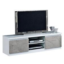MF Mobile Porta TV Roma Bianco/Marmo Oro Laccato Lucido, 150 x 50 x h45 cm