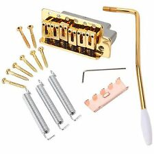 1 High Quality Gold Tremolo Bridge Set For Strat Electric Guitar Replacement