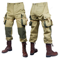 WW2 US ARMY M42 Fly Khaki Trousers Solider Airborne Paratrooper Pants Unisex New