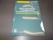 FULVIO MECENATE:DEBITO,RESPONSABILITà E COMUNIONE LEGALE NEL DIRITTO DI FAMIGLIA