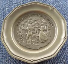 No Gains...Pains... - Franklin MInt Miniature Collectible Plate - VGC BRONZE