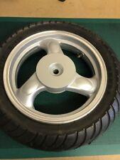 "Chinese 50cc Scooter Moped Rear Wheel & Tyre 2.75x12"" Drum Brake 3 Spoke Silver"