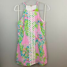 LILLY PULITZER Pearl Romper Dress Don't Stop Beleafing Sz 2 NWT $178 Y156