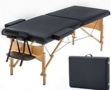 Massage Table Portable Folding Professional Reiki Hardwood Pu Leather Relaxing