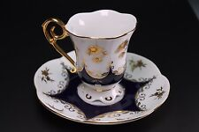 Leander Bavaria Cobalt Gold Germany Czech Republic Cup and Saucer
