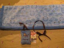 Carters Little Layette Fleece Car Blanket and Door Knob Pillow Hanger