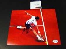 MILOS RAONIC 8X10 AUTOGRAPHED AUTO PHOTO PSA / DNA CANADA FRENCH OPEN