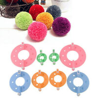 8PCS Pom pom Maker Fluff Ball Weaver Knitting Needle DIY Tool Set Bobble Craft