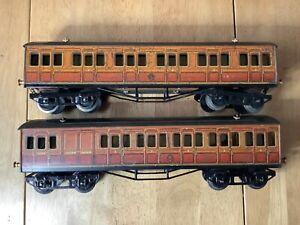 Hornby O Gauge Pair of Metropolitan Coaches 1 x Comp 1 x Brake