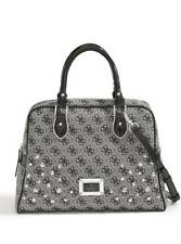 SKYA STUDDED BOX SATCHEL Removable shoulder strap Handbag for Women's, Black