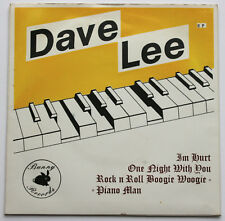 "Dave LEE RARE PRIVATE 7"" EP ROCK N ROLL boogie woogie piano Man UK 1987 Bunny"