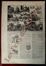 Document Ancienne planche Metier de la vannerie gravures  1922