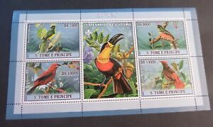 St Thomas & Prince Island 2007 Birds Sheetlet UM MNH  unmounted mint