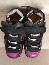 New Rock boots / shoes, silver fuschia pattern, new, size 7 / 40