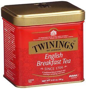 TWININGS ENGLISH BREAKFAST Loose Tea Tin 100g 3.5oz