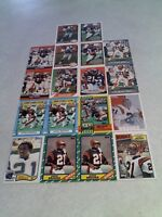 *****James Brooks*****  Lot of 65+ cards.....25 DIFFERENT / Football