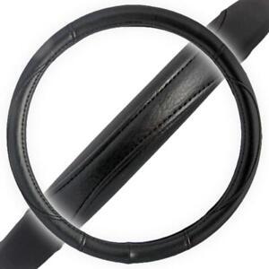 "Ergonomic No Slip Leather Grip Steering Wheel Cover Skin Standard Fit 14.5-15.5"""