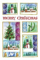 """Boxed Christmas Cards Snowy Scenes Design, 4"""" x 6"""", 16 Cards and 17 Envelopes"""