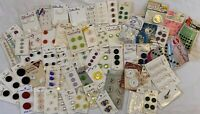 Vintage Lot Of Buttons & Snaps On Original Cards