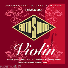 Rotosound Orchestral Strings RS6000 Professional Violin - Flatwound - UK MADE