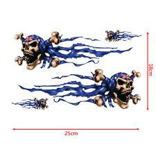 Crâne Aigle flamme MOTOCROSS MOTO, VOITURE, VTT, course, vélo, casque Decal Stickers