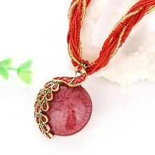 Charms Necklace phoenix Resin Pendant Womens Red Link Chic Chain Fashion Jewelry
